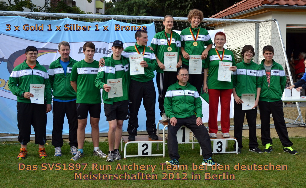 Das SVS-Run Archery Team bei der DM in Berlin