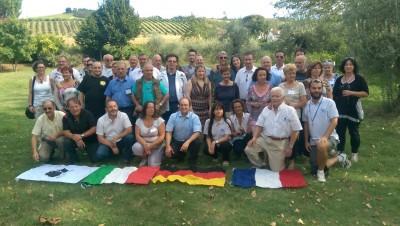 Teilnehmer inklusive Betreuer und Angehörige aus Faenza, Bastia, La Turbie und Straßdorf